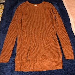 Long fitted sweater